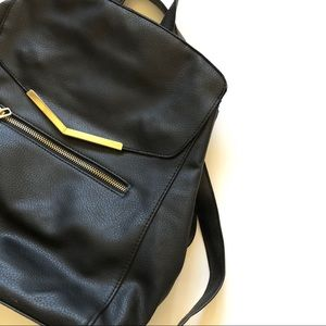 Womens Black with gold trim Classy Backpack